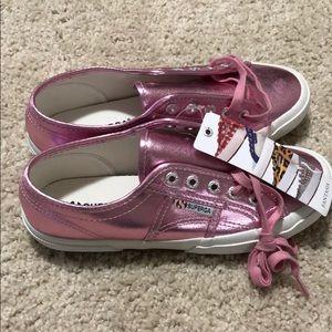 Superga Pink Metallic Shoes